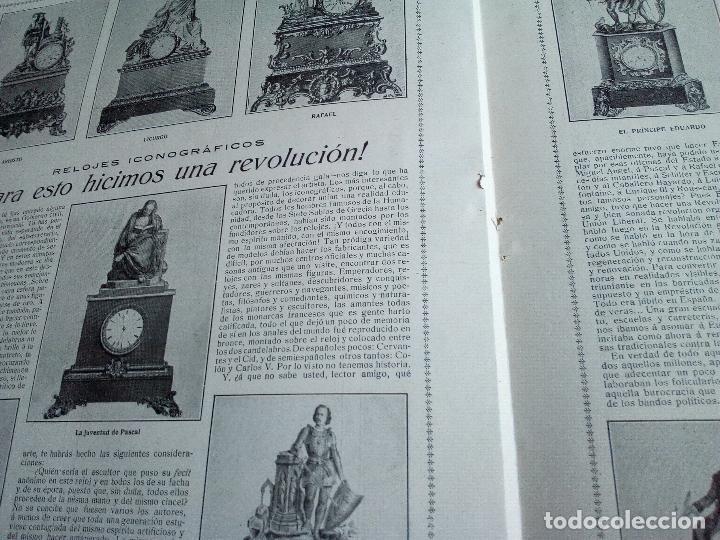 Coleccionismo de Revistas y Periódicos: LA ESFERA Nº275 AÑO 1919 MUSEO DE CADIZ-RELOJES ICONOGRAFICOS-CAPILLA VELEZ MURCIA-MISTINGUETT - Foto 7 - 63891199