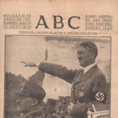 Coleccionismo de Revistas y Periódicos: DIARIO ABC SEVILLA GUERRA CIVIL MES DE ABRIL 1937 - 25 EJEMPLARES . Lote 63900123