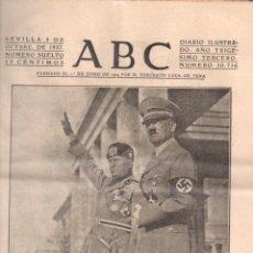 Coleccionismo de Revistas y Periódicos: DIARIO ABC SEVILLA GUERRA CIVIL MES DE OCTUBRE 1937 - 21 EJEMPLARES. Lote 63901703