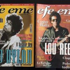 Coleccionismo de Revistas y Periódicos: DOS REVISTAS EFE EME - BOB DYLAN Y LOU REED. Lote 184707266