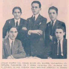Coleccionismo de Revistas y Periódicos: * COLEGIO SAN ANTONIO ABAD * ALUMNOS CON PREMIO EXTRAORDINARIO - 1925. Lote 64131851