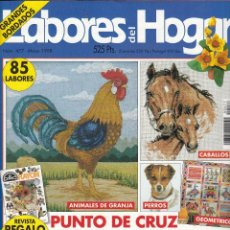 Coleccionismo de Revistas y Periódicos: REVISTA LAS LABORES DEL HOGAR Nº 477. INCLUYE PATRONES. CABALLOS, ANIMALES DE GRANJA, PERROS ETC.. Lote 64161987