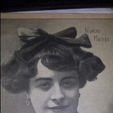 Coleccionismo de Revistas y Periódicos: NUEVO MUNDO Nº 792 - 11 - MARZO DE 1909- LUISA PORTEÑA HERMOSA CUPLETISTA ESPAÑOLA -. Lote 64412937