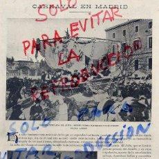 Coleccionismo de Revistas y Periódicos: MADRID 1910 CARNAVAL HOJA REVISTA. Lote 64755715