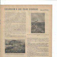 Coleccionismo de Revistas y Periódicos: 1947 - EXCURSIÓN A LAS ISLAS SISARGAS - A CORUÑA GALICIA. Lote 64777827