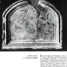 Coleccionismo de Revistas y Periódicos: AÑO 1962 ARTE MESA PALEOCRISTIANA RUBI TESORO VISIGOTICO TORREDONJIMENO ABRERA CAPILLA SANT HILARI. Lote 64978727