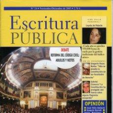 Coleccionismo de Revistas y Periódicos: ESCRITURA PÚBLICA. Nº 24 NOVIEMBRE-DICIEMBRE 2003. 66 PÁGINAS. Lote 64994019