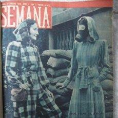 Coleccionismo de Revistas y Periódicos: REVISTA SEMANA. Nº 1 AL 32 INCLUIDO. DE FEBRERO A OCTUBRE. ENCUADERNADO EN 1 TOMO. AÑO 1940.. Lote 65051603
