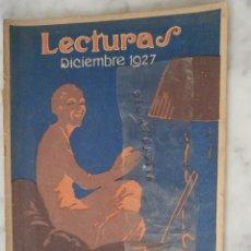 Coleccionismo de Revistas y Periódicos: REVISTA LECTURAS SOLO PORTADA DICIEMBRE 1927. Lote 65976270