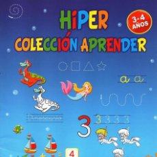 Coleccionismo de Revistas y Periódicos: HIPER COLECCION APRENDER N. 27 - CALCULA, ESCRIBE Y COLOREA - 3/4 AÑOS (NUEVA). Lote 167143781