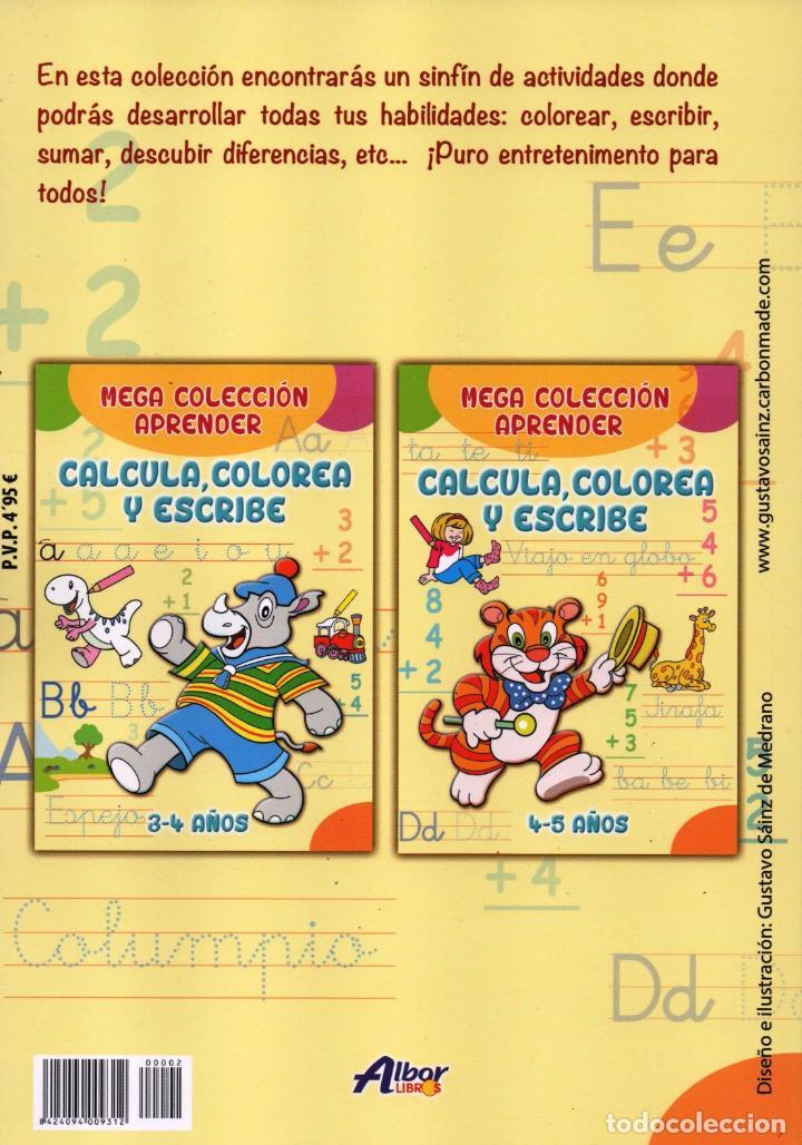 Coleccionismo de Revistas y Periódicos: MEGA COLECCION APRENDER N. 2 - CALCULA, COLOREA Y ESCRIBE - 4/5 AÑOS (NUEVA) - Foto 2 - 167143764