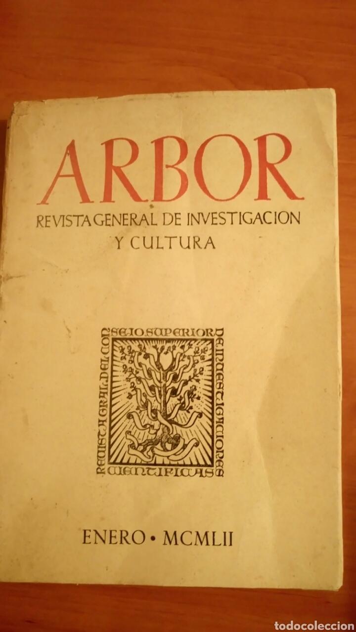 REVISTA ARBOR COMPLETA ORIGINAL ENERO 1952 CAJAL Y EL PROBLEMA DEL SABER. LAÍN ENTRALGO (Coleccionismo - Revistas y Periódicos Modernos (a partir de 1.940) - Otros)