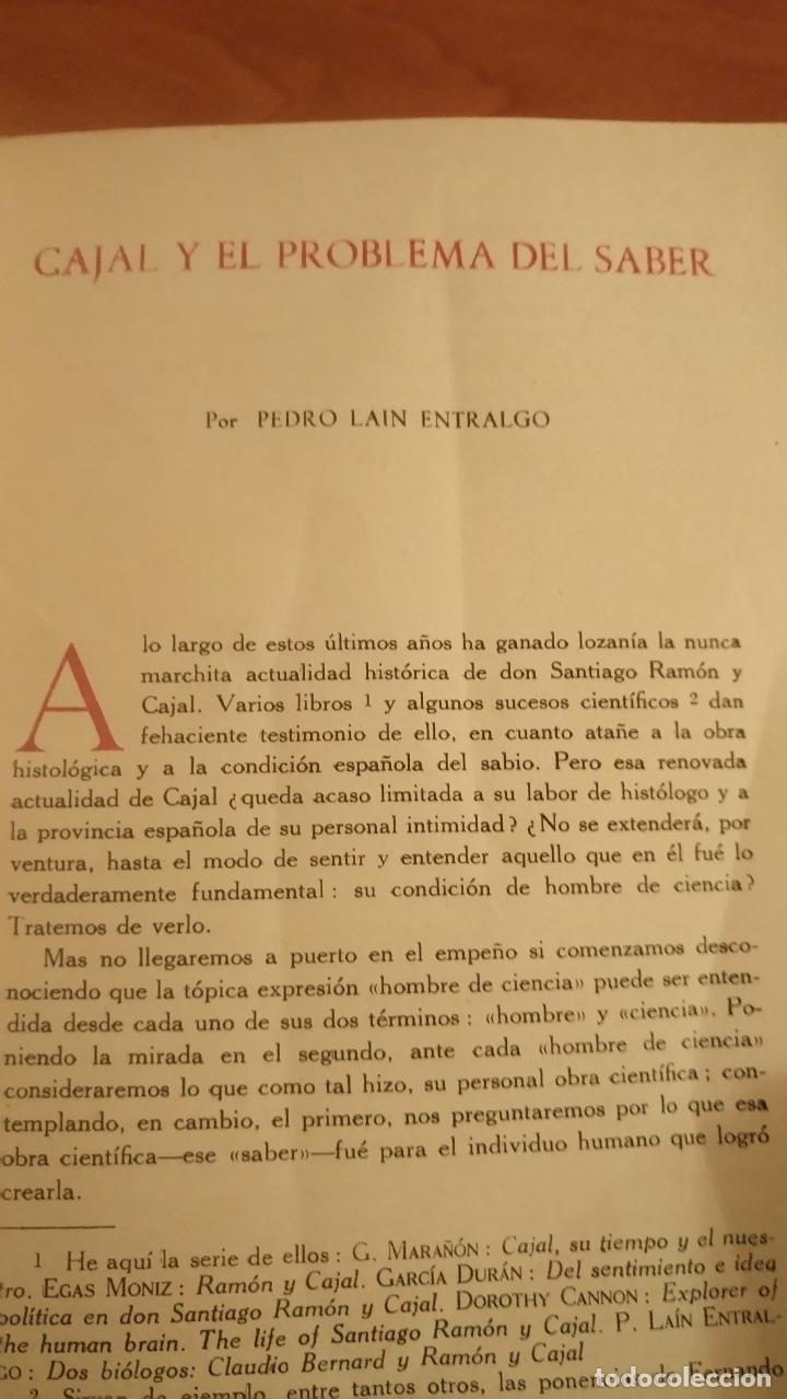 Coleccionismo de Revistas y Periódicos: Revista ARBOR COMPLETA ORIGINAL ENERO 1952 CAJAL Y EL PROBLEMA DEL SABER. LAÍN ENTRALGO - Foto 2 - 66058989