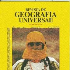 Coleccionismo de Revistas y Periódicos: REVISTA DE GEOGRAFIA UNIVERSAL VOLUMEN 5 NUMERO 3.MARZO 1979. Lote 55454583