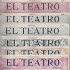 Coleccionismo de Revistas y Periódicos: LOTE DE 6 REVISTA DE - EL TEATRO - DE 1900 A 1901- NUMEROS - 2 - 3 - 4 - 5 - 6 - 7 -. Lote 66667462