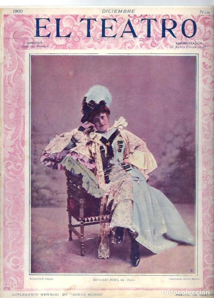 Coleccionismo de Revistas y Periódicos: LOTE DE 6 REVISTA DE - EL TEATRO - DE 1900 A 1901- NUMEROS - 2 - 3 - 4 - 5 - 6 - 7 - - Foto 2 - 66667462