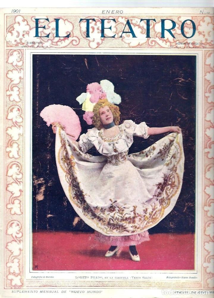 Coleccionismo de Revistas y Periódicos: LOTE DE 6 REVISTA DE - EL TEATRO - DE 1900 A 1901- NUMEROS - 2 - 3 - 4 - 5 - 6 - 7 - - Foto 3 - 66667462