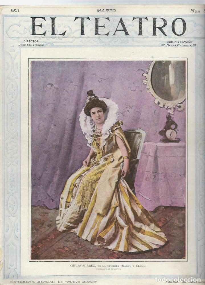 Coleccionismo de Revistas y Periódicos: LOTE DE 6 REVISTA DE - EL TEATRO - DE 1900 A 1901- NUMEROS - 2 - 3 - 4 - 5 - 6 - 7 - - Foto 5 - 66667462