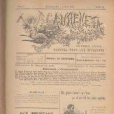 Coleccionismo de Revistas y Periódicos: L'AURENETA IL.LUSTRADA CATALANISME BUENOS AIRES 1896 PRIMERA TRAD CARNER VERDAGUER LA RENAIXENSA. Lote 66748246