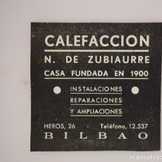 Coleccionismo de Revistas y Periódicos: PUBLICIDAD REVISTA ORIGINAL 1937. CALEFACCIÓN N. DE ZUBIAURRE, BILBAO. Lote 66844650
