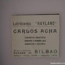 Coleccionismo de Revistas y Periódicos: PUBLICIDAD REVISTA ORIGINAL 1937. CARLOS ACHA, SUMINISTROS INDUSTRIALES, BILBAO. Lote 66844766