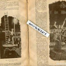 Coleccionismo de Revistas y Periódicos: REVISTA AÑO 1895 GUERRA DE CUBA COMBATE DE PERALEJO FOTOS DEL CIRCO PARISH EN MADRID . Lote 66943930