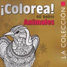 Coleccionismo de Revistas y Periódicos: COLOREA 40 BELLOS ANIMALES N. 1 - MEGASTAR (NUEVA). Lote 66976870