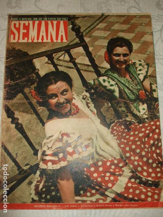 REVISTA SEMANA Nº 482 - 1949 (Coleccionismo - Revistas y Periódicos Modernos (a partir de 1.940) - Otros)