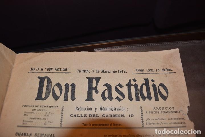 Coleccionismo de Revistas y Periódicos: SEMANARIO SATIRICO DON FASTIDIO. NUMERO 9. JEREZ DE LA FRONTERA 3 MARZO 1912. MUY INTERESANTE - Foto 2 - 67005082