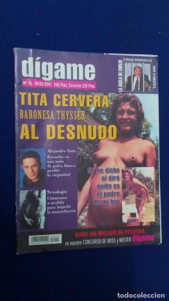Revista Digame Tita Cervera Al Desnudo Nº 1 Sold Through