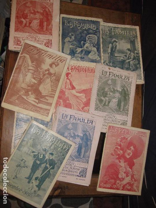 LOTE 19 REVISTAS REVISTA LA FAMILIA AÑOS 1911 -1913 -1915 -1919 MORAL INSTRUCTIVA DEL HOGAR (Coleccionismo - Revistas y Periódicos Antiguos (hasta 1.939))