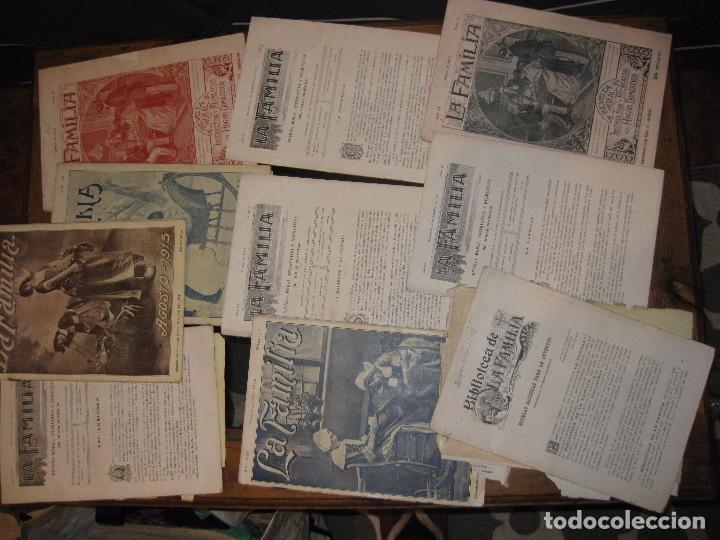 Coleccionismo de Revistas y Periódicos: lote 19 revistas revista la familia años 1911 -1913 -1915 -1919 moral instructiva del hogar - Foto 2 - 67347533