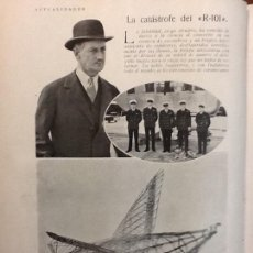 Coleccionismo de Revistas y Periódicos: LA CATÁSTROFE DEL R-101.DIRIGIBLE INGLÉS .HOJAS REVISTA 1930. Lote 67414786
