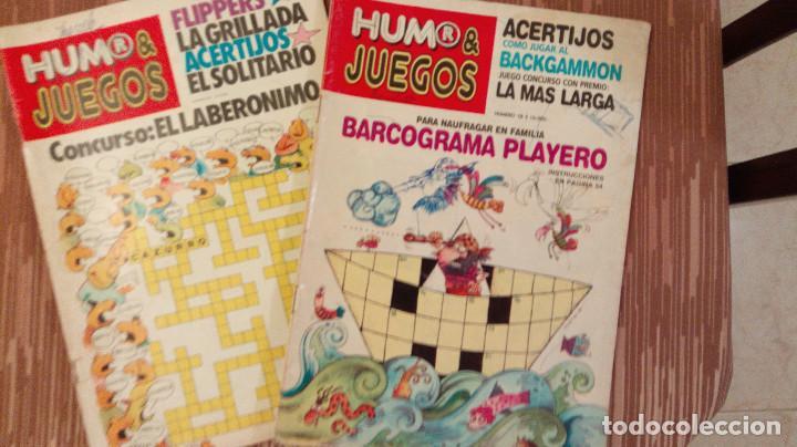 LOTE DE 2 REVISTAS HUMOR Y JUEGOS - Nª 18 Y 20 - ARGENTINA - RAROS EJEMPLARES (Coleccionismo - Revistas y Periódicos Modernos (a partir de 1.940) - Otros)