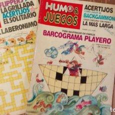 Coleccionismo de Revistas y Periódicos: LOTE DE 2 REVISTAS HUMOR Y JUEGOS - Nª 18 Y 20 - ARGENTINA - RAROS EJEMPLARES. Lote 67454337