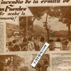 Collezionismo di Riviste e Giornali: REVISTA 1933 ROMERIA DE SANFUENTES ABANTO-ZIERBENA MINISTRO DE MARINA LLUIS COMPANYS SUBMARINO . Lote 100496968