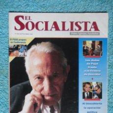 Coleccionismo de Revistas y Periódicos: REVISTA EL SOCIALISTA Nº 586 AÑO 1995 -TRABAJARE PARA GANAR LAS ELECCIONES -LA EUSKADI EN PAZ. Lote 67699965