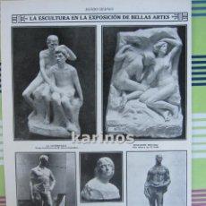 Coleccionismo de Revistas y Periódicos: 1912 HOJA ESCULTORES EN EXPOSICIÓN BELLAS ARTES. ETC (247). Lote 68004557
