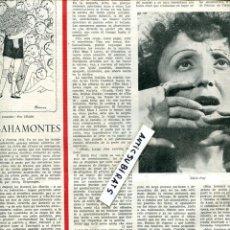 Coleccionismo de Revistas y Periódicos: REVISTA 1954 BAHAMONTES EDITH PIAF FESTIVAL DE CINE DE SAN SEBASTIAN GUERAU DE LIOST. Lote 68117193
