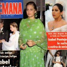 Coleccionismo de Revistas y Periódicos: SEMANA - Nº 2630 - 11 JULIO 1990. Lote 68246045