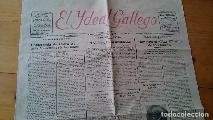 DIARIO EL IDEAL GALLEGO AÑO X NUM 2523 CORUÑA 9 FEBRERO 1920 SALE EL PLUS ULTRA DE RIO DE JANEIRO (Coleccionismo - Revistas y Periódicos Antiguos (hasta 1.939))