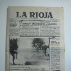 Coleccionismo de Revistas y Periódicos: PERIÓDICO DIARIO LA RIOJA 9 SEP. 1983 - TACHADO EL HOSPITAL DE CALAHORRA. Lote 68416221