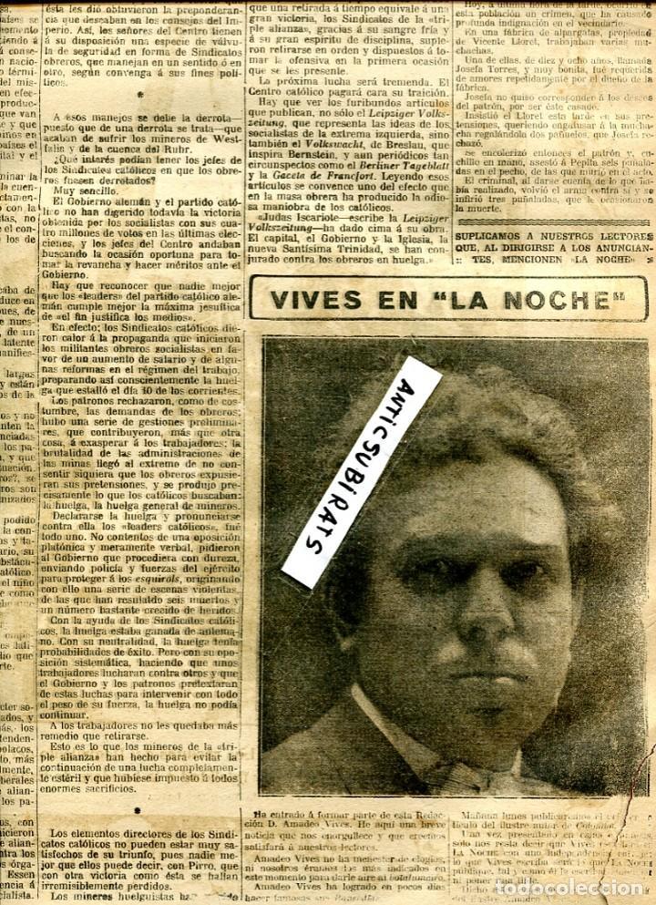 PERIODICO 1912 EMILIA PARDO BAZAN (Coleccionismo - Revistas y Periódicos Antiguos (hasta 1.939))