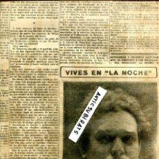 Coleccionismo de Revistas y Periódicos: PERIODICO 1912 EMILIA PARDO BAZAN . Lote 68443425