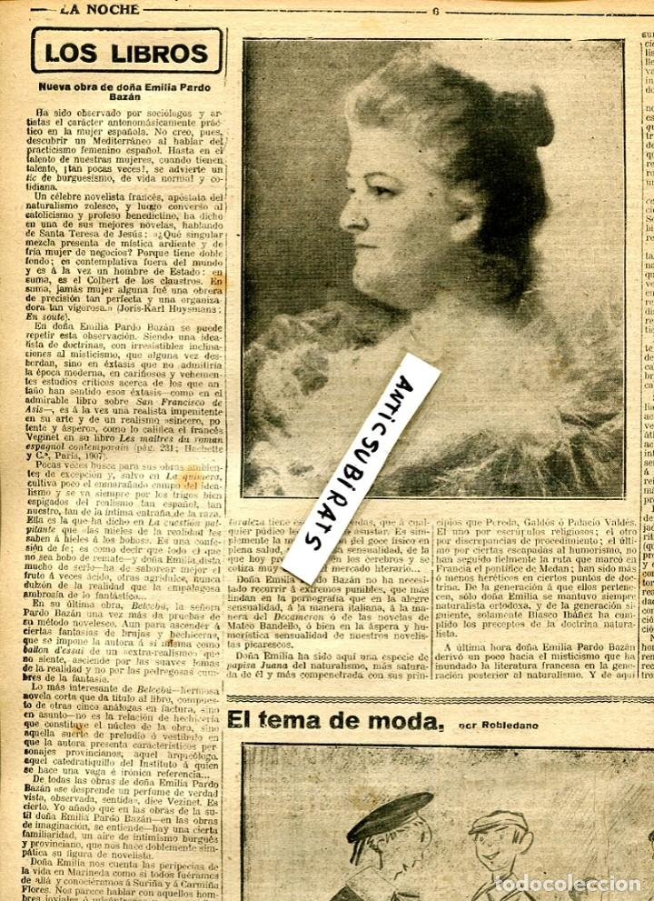 Coleccionismo de Revistas y Periódicos: PERIODICO 1912 EMILIA PARDO BAZAN - Foto 2 - 68443425
