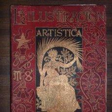 Coleccionismo de Revistas y Periódicos: LA ILUSTRACIÓN ARTÍSTICA. 1890, TOMO IX. DEL Nº 444 AL 470, SEMESTRAL. BARCELONA. GRABADOS. 432 PAGS. Lote 68465569