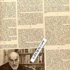 Coleccionismo de Revistas y Periódicos: REVISTA 1934 RAMON Y CAJAL BEMONTE FRAY LUIS DE LEON FARO FUTBOL ATHLETIC SAÑUDO VALLADOLID MADRID. Lote 68683793