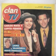 Coleccionismo de Revistas y Periódicos: REVISTA CLAN TV. CARLOS MATA, LUPITA FERRER, LAURA VALENZUELA... Nº 292. SEPTIEMBRE 1992.. Lote 68765161