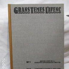 Coleccionismo de Revistas y Periódicos: TOMO REVISTES - GRANS TEMES L ' AVENÇ (Nº 1 - 2- 3 ) COMO NUEVO. Lote 68883749
