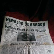 Coleccionismo de Revistas y Periódicos: PERIODICO HERALDO DE ARAGON EDICION ESPECIAL ENERO 81 DICIEMBRE 88. Lote 68910645